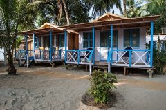 2. Cafe Blue Resort_AC Seafront Beach Huts Cafe Blue Resort, Palolem Beach, Goa.