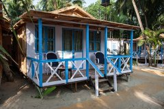 3. Cafe Blue Resort_AC Seafront Beach Hut Cafe Blue Resort, Palolem Beach, Goa.