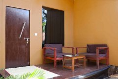 Diva Bungalows AC Sea View Bungalow Balcony Agonda Beach Goa. -