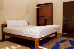 Diva Bungalows AC Partial Sea View Bungalow Bedroom Agonda Beach Goa.