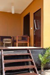 Diva Bungalows AC Beachfront Bungalow Balcony Agonda Beach Goa. -