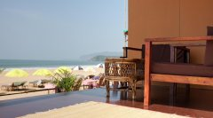 Diva Bungalows View From AC Beachfront Bungalow Balcony Agonda Beach Goa. -
