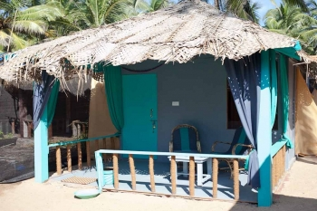 Saffron Sands Agonda Partial Sea View Hut  Agonda Beach Goa. -