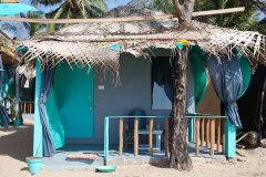 Saffron Sands Agonda Beachfront Hut Agonda Beach Goa. -