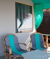 Saffron Sands Agonda  Beachfront Hut Balcony Agonda Beach Goa. -