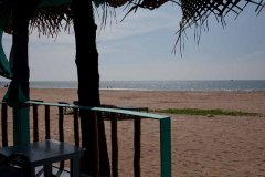 Saffron Sands Agonda  Beachfront Hut View From Balcony Agonda Beach Goa. -