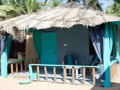 Saffron Sands Agonda Sea View Hut Agonda Beach Goa. -