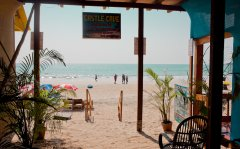 Castle Cave Palolem AC Sea View Huts View From The Balcony Palolem Beach Goa. -