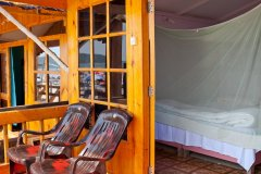 Castle Cave Palolem AC Beachfront Hut Balcony Palolem Beach Goa. -