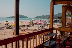 Castle Cave Palolem AC Beachfront Hut View From Balcony Palolem Beach Goa. -