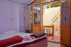 Castle Cave Palolem AC Sea View Huts Bedroom Palolem Beach Goa. -