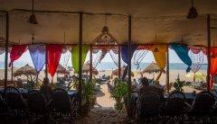 Om Sai Nirvana Resort Restaurant Patnem Beach South Goa.