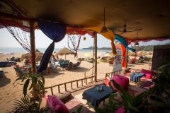 Om Sai Nirvana Resort View Fron The Restaurant Patnem Beach South Goa. -