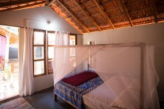 Om Sai Nirvana Resort Standard Huts Bedroom Patnem Beach South Goa.