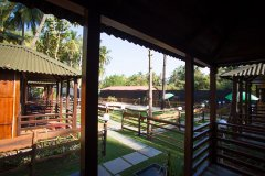 Club Palolem Resort AC Luxury Bungalows View From The Balcony Palolem Beach Goa. -