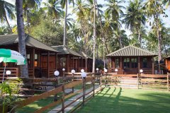 Club Palolem Resort AC Luxury Bungalows Palolem Beach Goa.