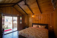 Club Palolem Resort AC Luxury Bungalows Bedroom Palolem Beach Goa.