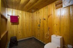 Club Palolem Resort AC Luxury Bungalows Bathroom Palolem Beach Goa.