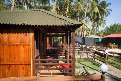 Club Palolem Resort AC Luxury Bungalows Balcony View Palolem Beach Goa. -