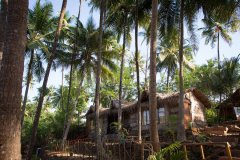 On The Rocks Resort Family Hut View Palolem Beach Goa.