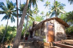 On The Rocks Resort View Of Family Hut Palolem Beach Goa.