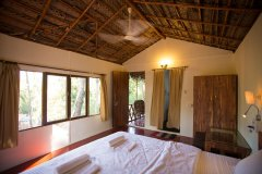On The Rocks Resort Family Hut Bedroom Palolem Beach Goa. -