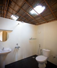 On The Rocks Resort Family Hut Bathroom 1 Palolem Beach Goa. -