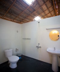 On The Rocks Resort Family Hut Bathroom 2 Palolem Beach Goa. -