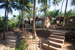 On The Rocks Resort View Palolem Beach Goa. -