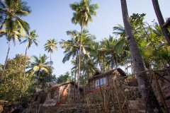On The Rocks Resort Standard Hut Palolem Beach Goa. -