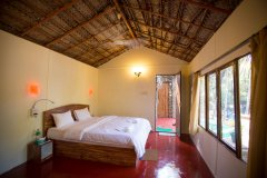 On The Rocks Resort Standard Hut Bedroom Palolem Beach Goa.