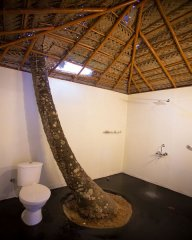 On The Rocks Resort Standard Hut Bathroom Palolem Beach Goa. -