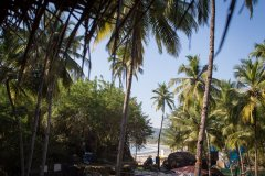 On The Rocks Resort View From Standard Hut Balcony Palolem Beach Goa.
