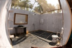 Green Park Beach Resort - Toilet and Shower of Super Deluxe Beach Hut of Green Park Beach Resort on Palolem Beach,Goa.