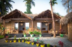 RIVER Resort Goa - Luxury AC Riverview Cottages-6 - RIVER Resort Goa, Rajbag-Patnem Beaches - Luxury AC Riverview Cottages
