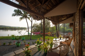 RIVER Resort Goa - Luxury AC Riverview Cottages-1 - RIVER Resort Goa, Rajbag-Patnem Beaches - Luxury AC Riverview Cottages