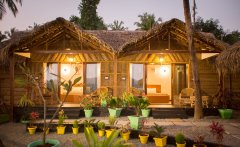 RIVER Resort Goa - Luxury AC Riverview Cottages RIVER Resort Goa, Rajbag-Patnem Beaches - Luxury AC Riverview Cottages