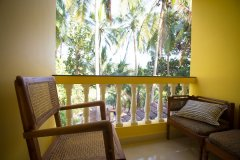 Monkey Rooms Jungle View Room 4 Balcony Agonda beach Goa.