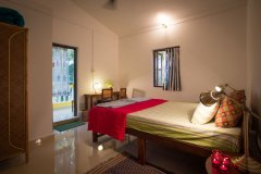 Monkey Rooms Jungle View Room 5  Bedroom Agonda beach Goa.