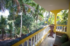 Monkey Rooms Jungle View Room 5  Balcony Agonda beach Goa.
