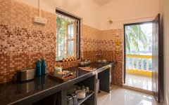 Monkey Rooms Shared Kitchen Agonda beach Goa.