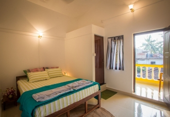 Monkey Rooms Village View Room 2 Interior Agonda beach Goa.