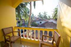 Monkey Rooms Village View Room 2 Balcony Agonda beach Goa.