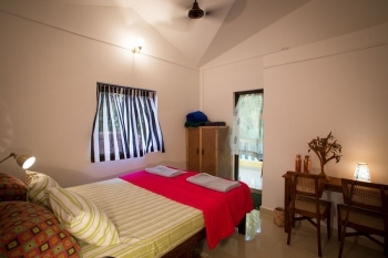Monkey Rooms Jungle View Room  Bedroom Agonda beach Goa.