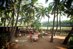 Agonda Palace Resort - River view restaurant of Agonda Palace on Agonda Beach,Goa -