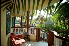 Agonda Palace Resort - View from the balcony of AC Luxury Room of Agonda Palace on Agonda Beach,Goa -