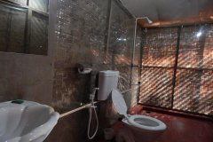Big Chill Restaurant and Accommodation Standard Huts Bathroom Colomb Beach South Goa.