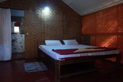 Big Chill Restaurant and Accommodation Standard Huts Bedroom Colomb Beach South Goa.