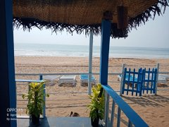 Ekaloka Beach Cottages View From Sea View King Size Room  Agonda Beach  South Goa