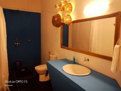 Ekaloka Beach Cottages Bathroom View of Sea View King Size Room  Agonda Beach  South Goa
